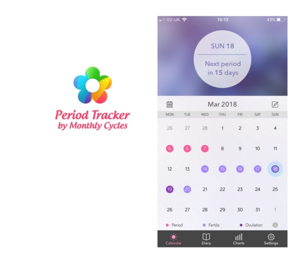 M. Cycles period tracker app