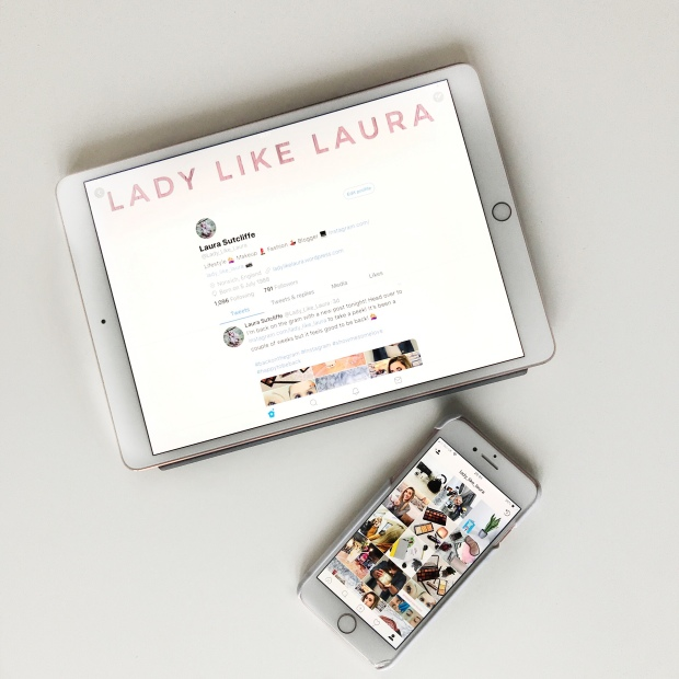 Lady Like Laura twitter and Instagram