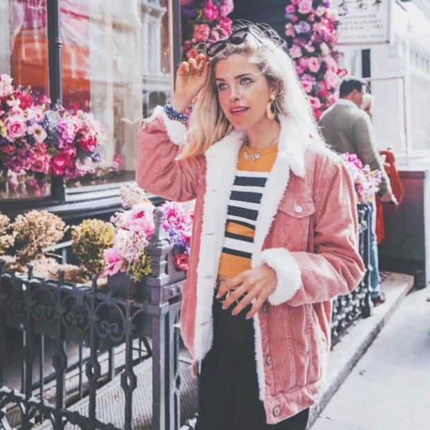 Primark pink cord jacket