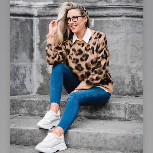 Primark leopard print jumper